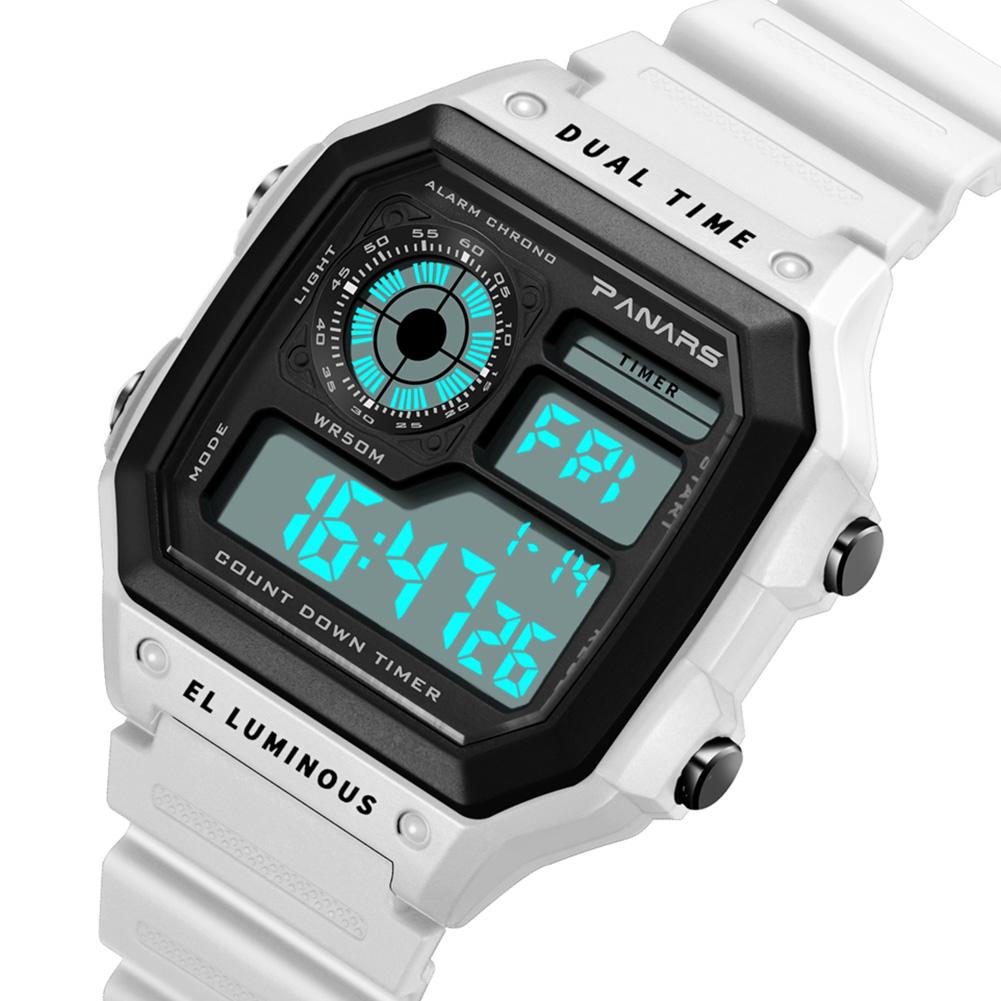 PANARS-Men-039-s-Chronograph-Digital-Wrist-Watch-Square-Electronic-Sport-Wristwatch