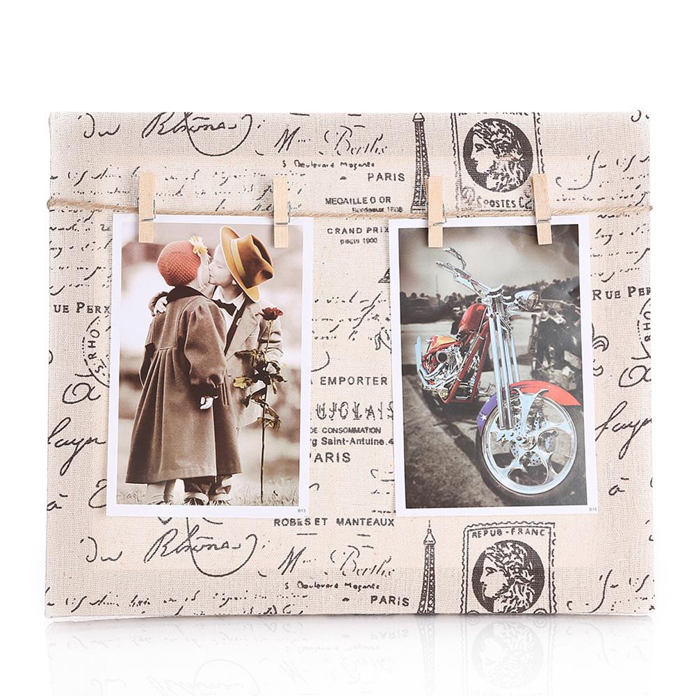 4Pc-set-Clips-Wooden-Wood-Picture-Frame-Canvas-Cloth-Burlap-Creative-Photo-Frame thumbnail 16