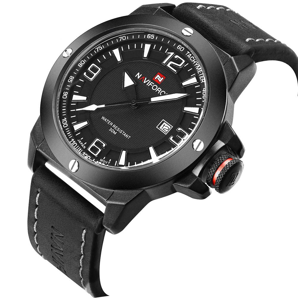 NAVIFORCE-Fashion-Sports-Men-039-s-Waterproof-Quartz-Leather-Casual-Calendar-Watches thumbnail 11