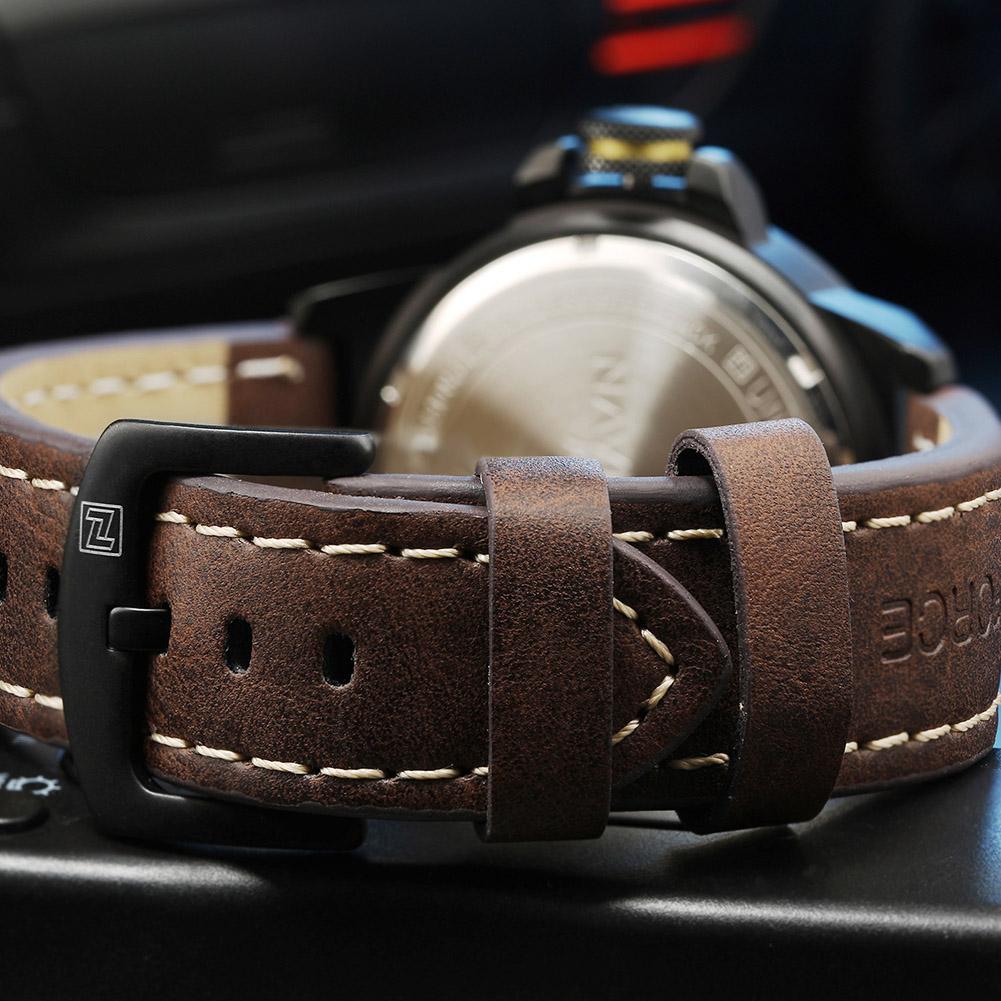 NAVIFORCE-Fashion-Sports-Men-039-s-Waterproof-Quartz-Leather-Casual-Calendar-Watches thumbnail 13