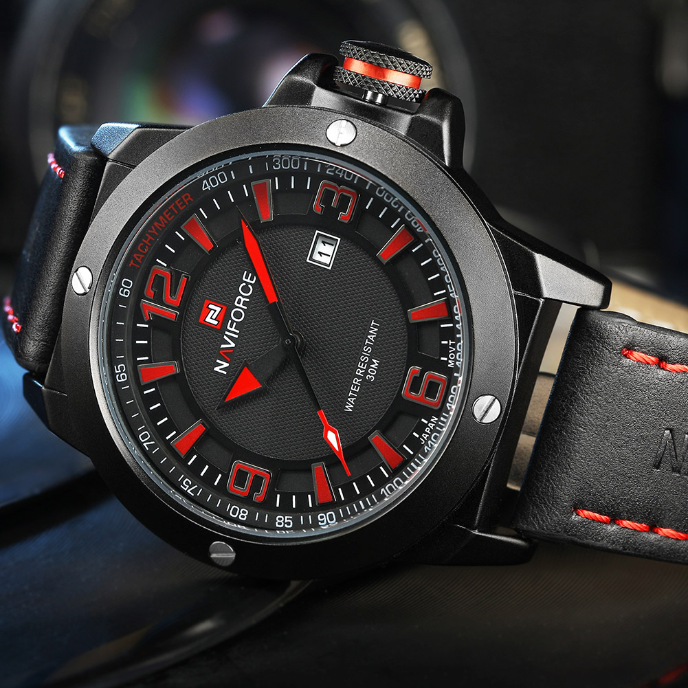 NAVIFORCE-Fashion-Sports-Men-039-s-Waterproof-Quartz-Leather-Casual-Calendar-Watches thumbnail 17