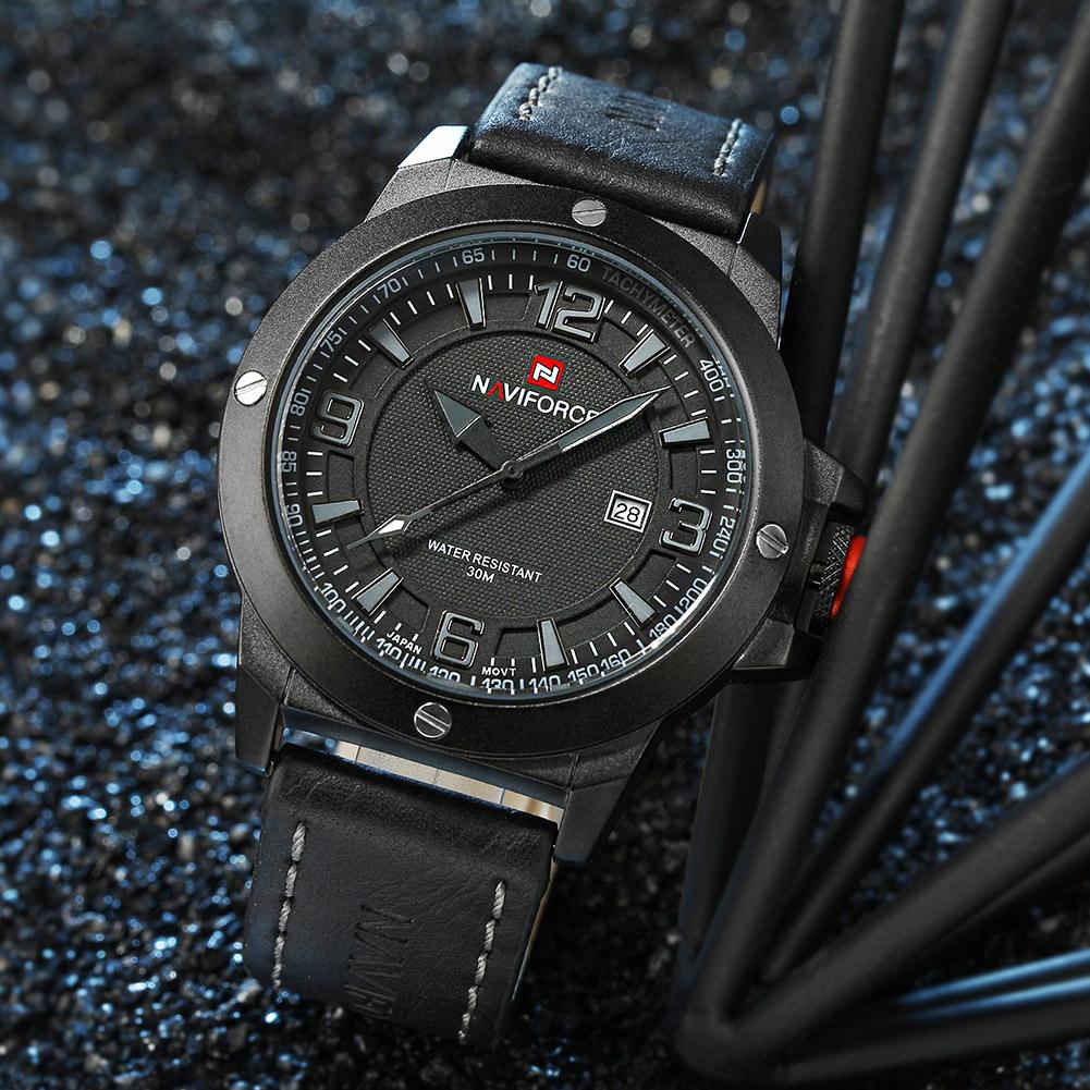 NAVIFORCE-Fashion-Sports-Men-039-s-Waterproof-Quartz-Leather-Casual-Calendar-Watches thumbnail 19