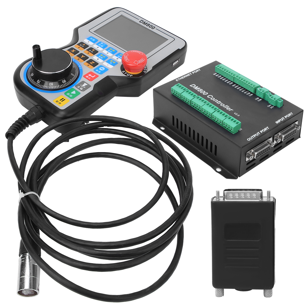 CNC System Controller 4 Achsen DDCSV2.1 USB CNC System Offline Controller Graviermaschinen mit Handrad 5V