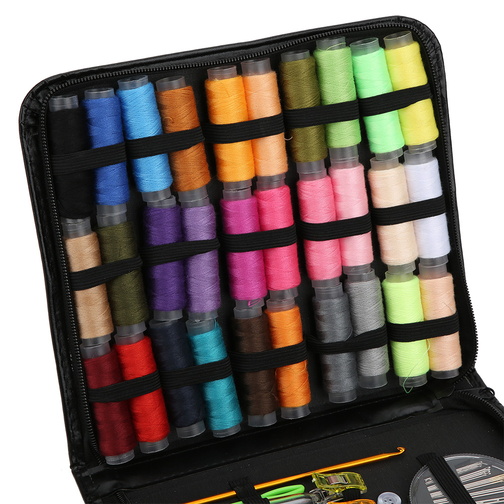 High-Quality-Travel-Household-DIY-Sewing-Kit-Embroidery-Tool-Bag-with-Zipper miniature 11