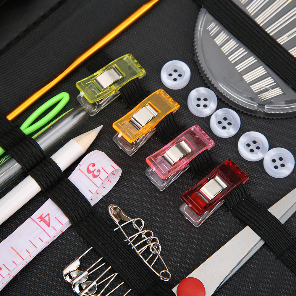 High-Quality-Travel-Household-DIY-Sewing-Kit-Embroidery-Tool-Bag-with-Zipper miniature 12