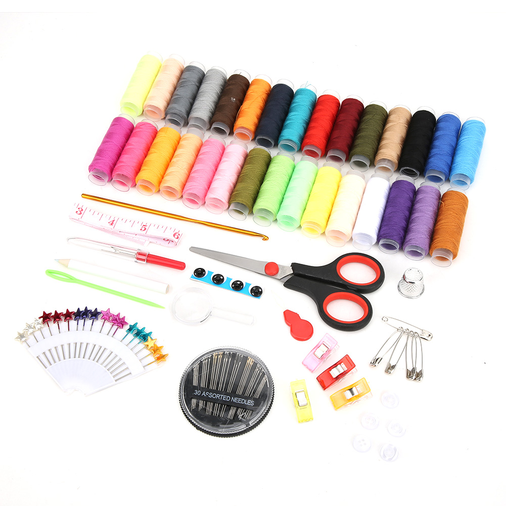 High-Quality-Travel-Household-DIY-Sewing-Kit-Embroidery-Tool-Bag-with-Zipper miniature 3
