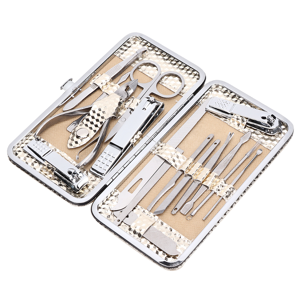 16-PCS-Pedicure-Manicure-Set-Nail-Clippers-Cleaner-Cuticle-Grooming-Kit-Case thumbnail 17