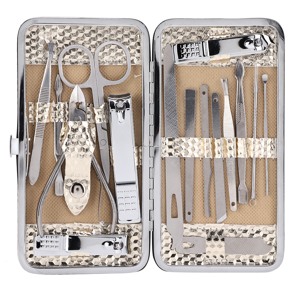 16-PCS-Pedicure-Manicure-Set-Nail-Clippers-Cleaner-Cuticle-Grooming-Kit-Case thumbnail 18