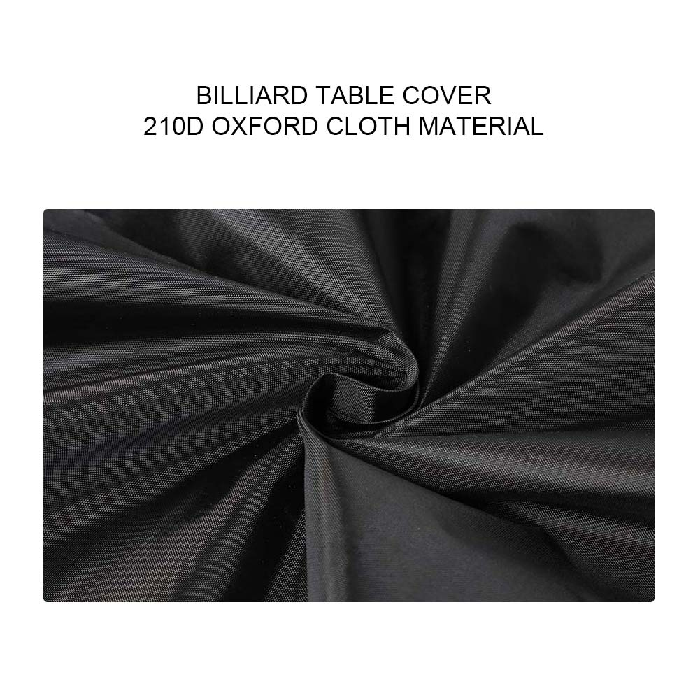 Indexbild 19 - 9FT Heavy Duty Fitted Leatherette Billiard Tabletop Pool Table Cover Waterproof