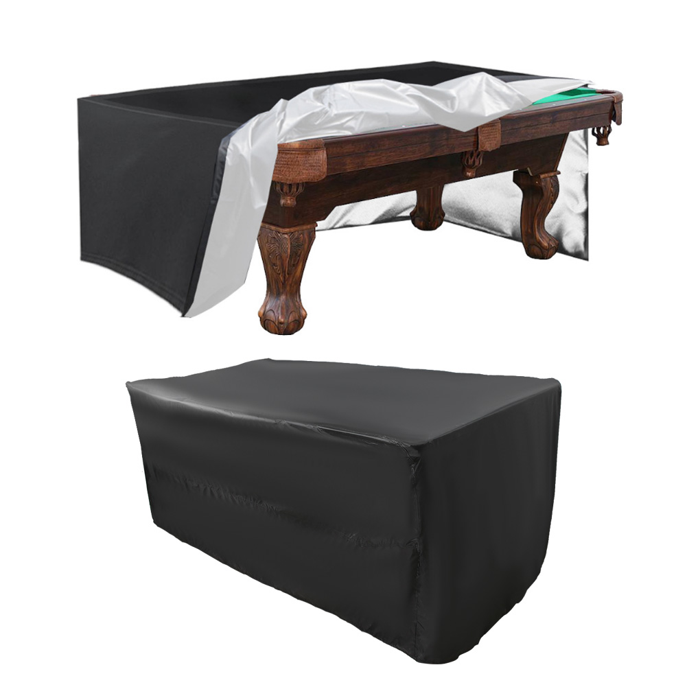 Indexbild 30 - 9FT Heavy Duty Fitted Leatherette Billiard Tabletop Pool Table Cover Waterproof