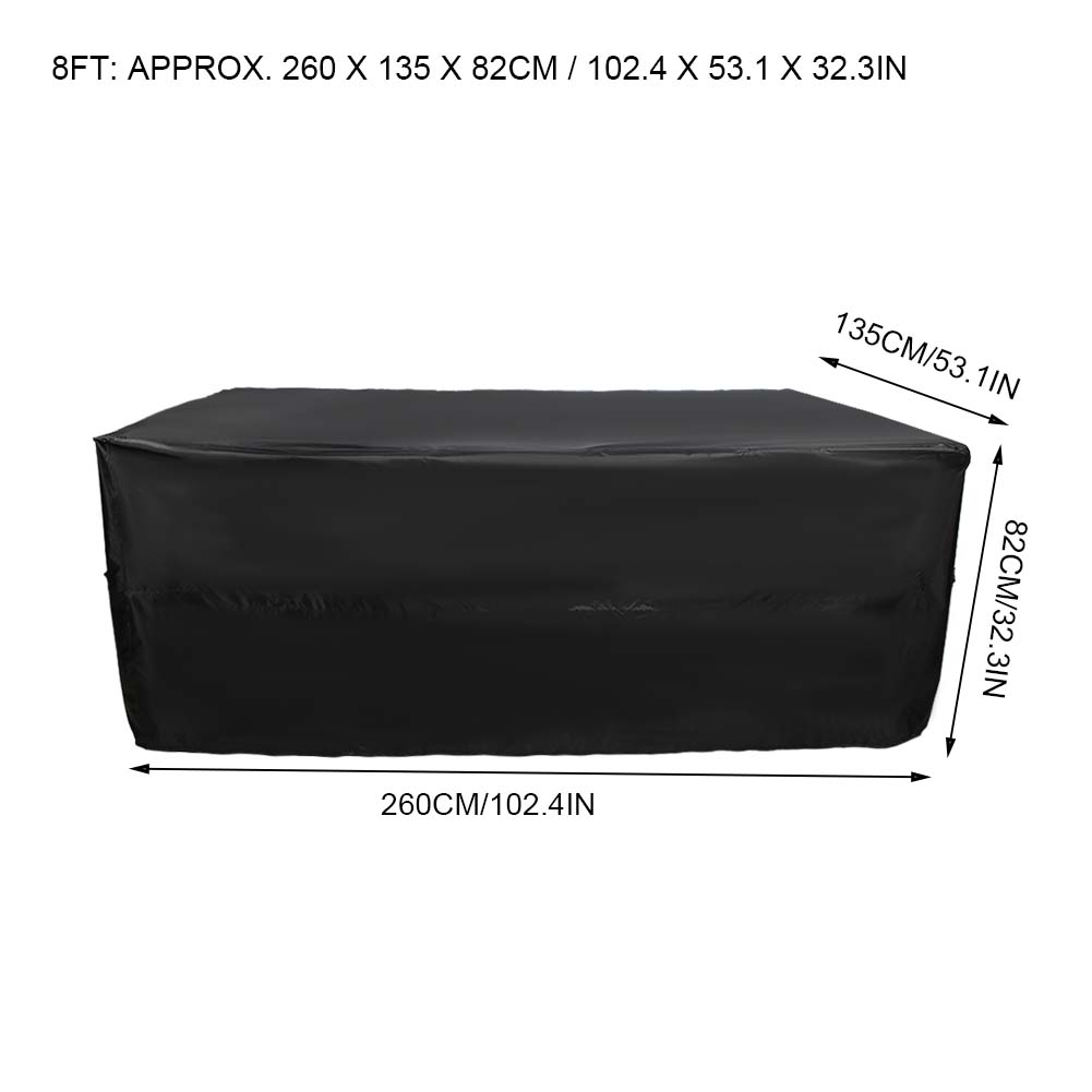 Indexbild 33 - 9FT Heavy Duty Fitted Leatherette Billiard Tabletop Pool Table Cover Waterproof