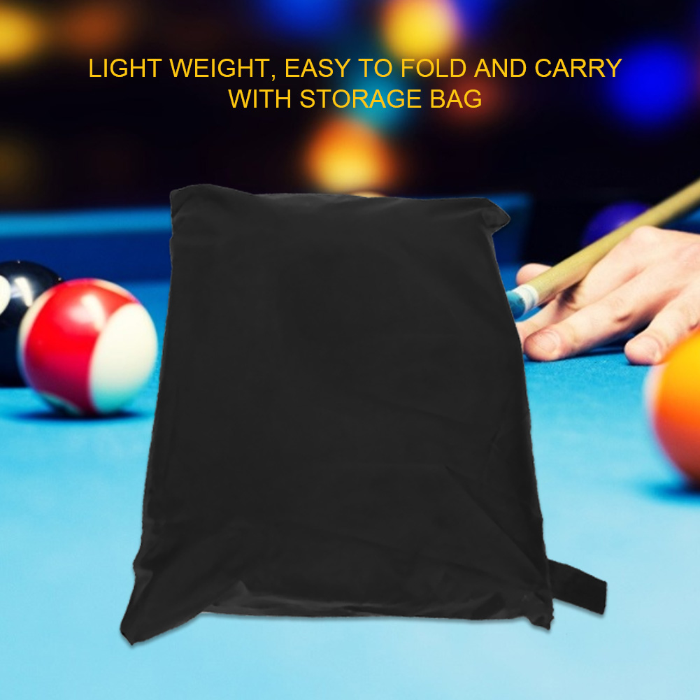 Indexbild 44 - 9FT Heavy Duty Fitted Leatherette Billiard Tabletop Pool Table Cover Waterproof