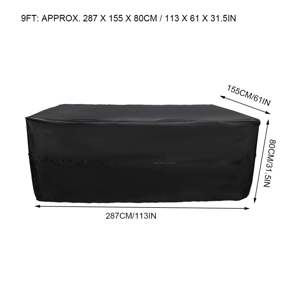 Indexbild 45 - 9FT Heavy Duty Fitted Leatherette Billiard Tabletop Pool Table Cover Waterproof