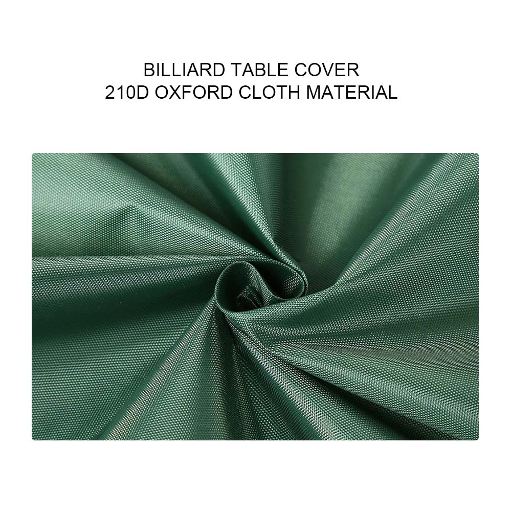 Indexbild 55 - 9FT Heavy Duty Fitted Leatherette Billiard Tabletop Pool Table Cover Waterproof
