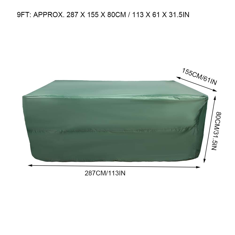 Indexbild 81 - 9FT Heavy Duty Fitted Leatherette Billiard Tabletop Pool Table Cover Waterproof