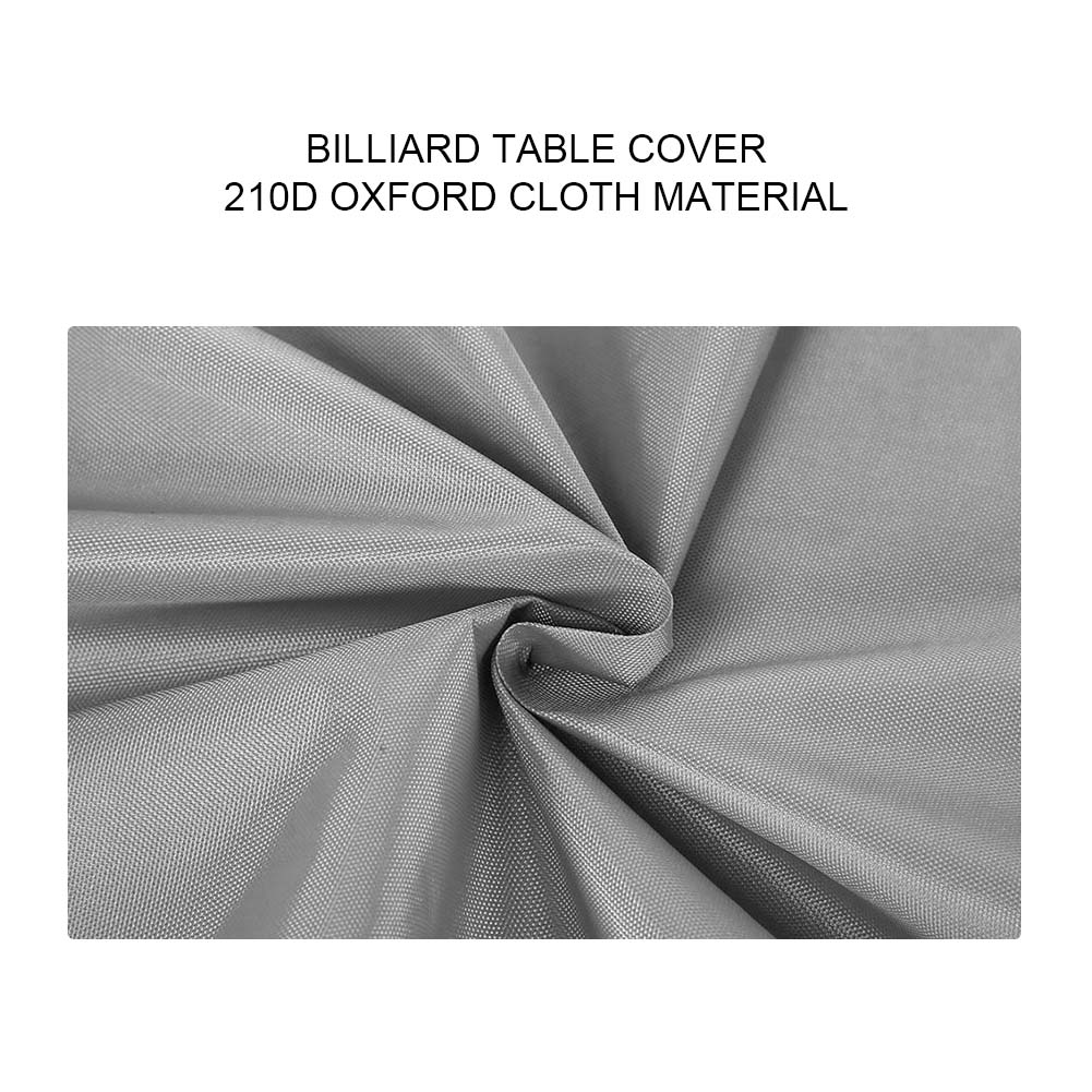 Indexbild 103 - 9FT Heavy Duty Fitted Leatherette Billiard Tabletop Pool Table Cover Waterproof