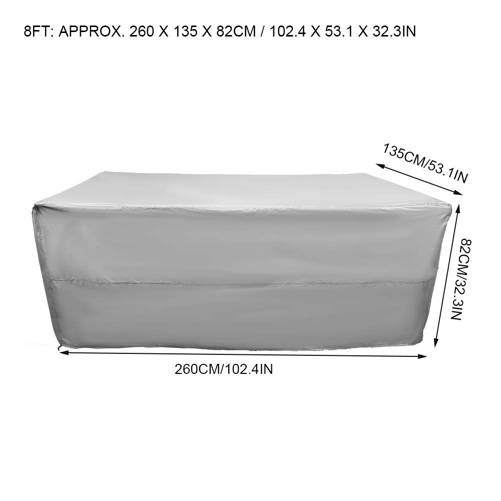Indexbild 105 - 9FT Heavy Duty Fitted Leatherette Billiard Tabletop Pool Table Cover Waterproof