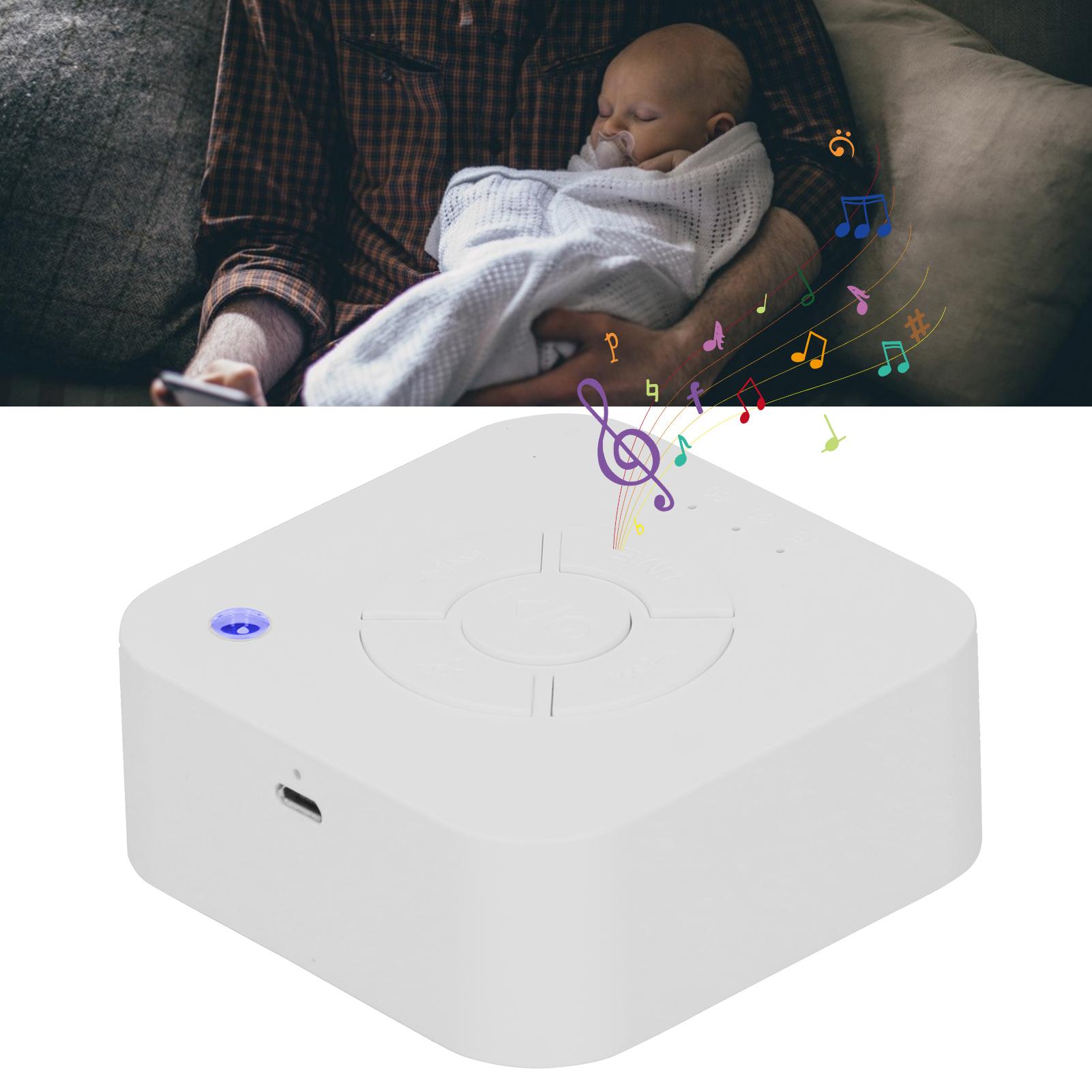 Indexbild 6 - Sleep Machine White‑Noise Aid Music Light Device Infant Breathing Therapy Sound