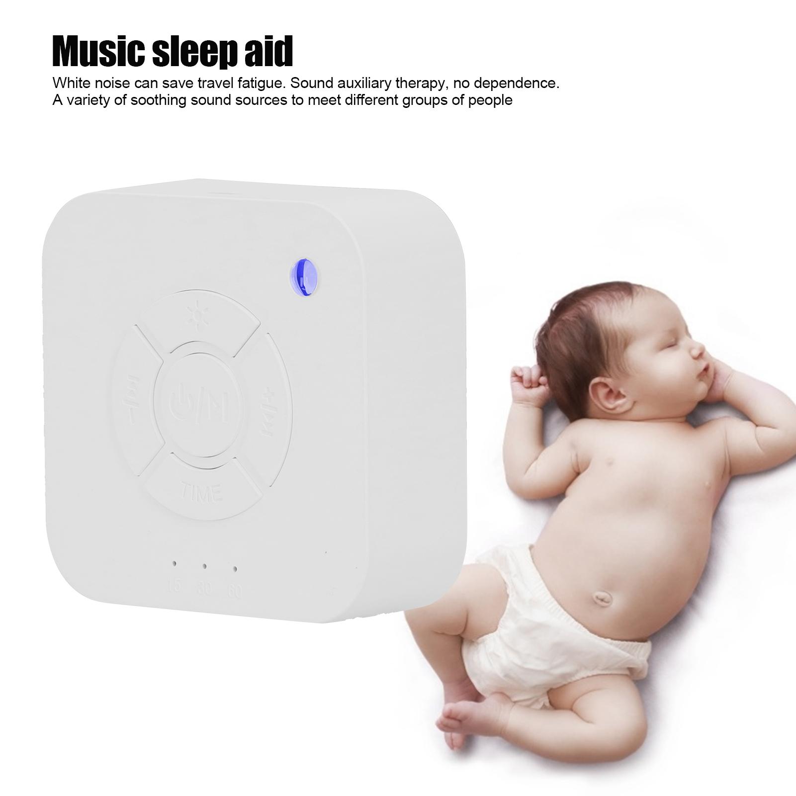 Indexbild 5 - Sleep Machine White‑Noise Aid Music Light Device Infant Breathing Therapy Sound