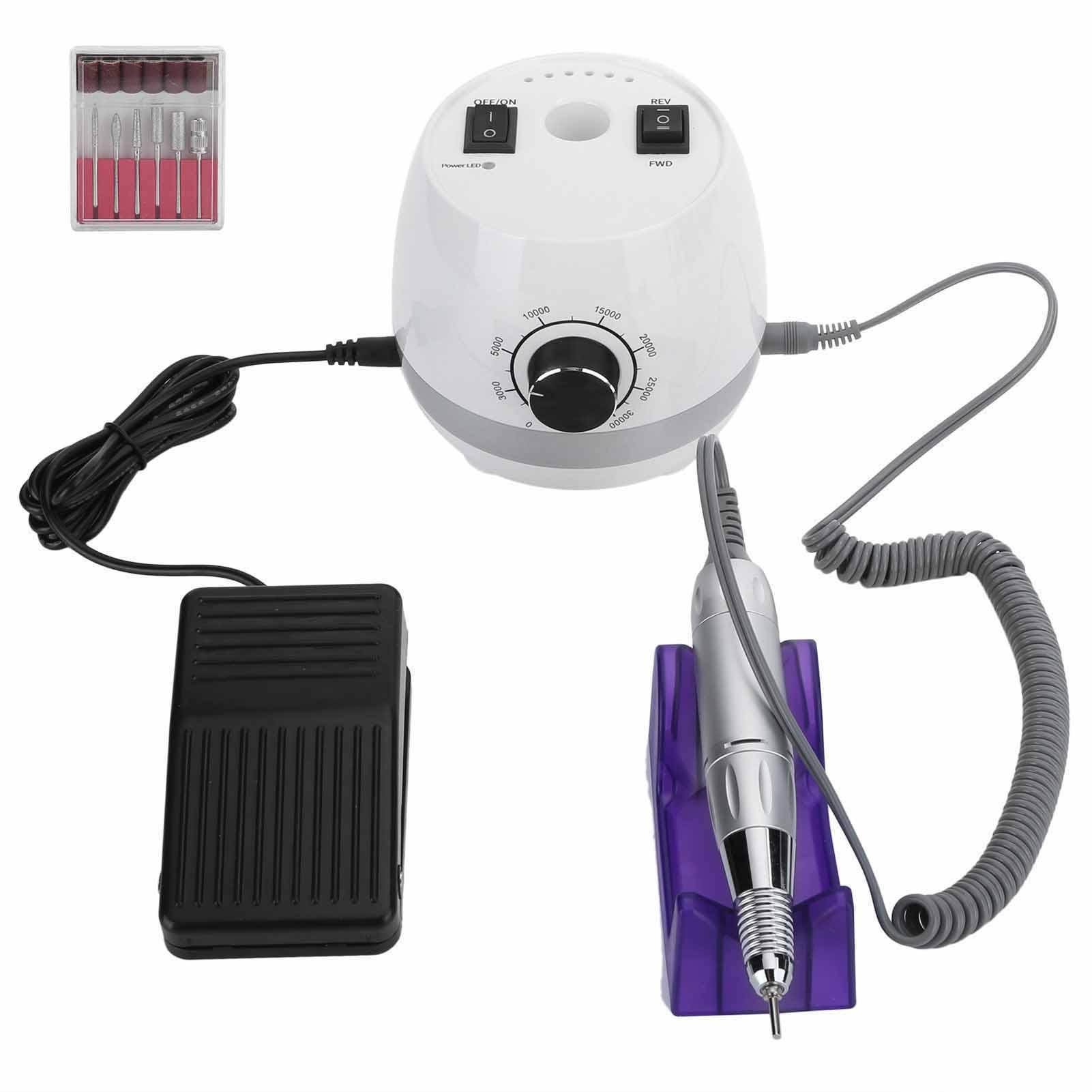Indexbild 14 - Polishing Nail Drill Machine Repairing Nail Polisher Grinding Electric 35000RPM
