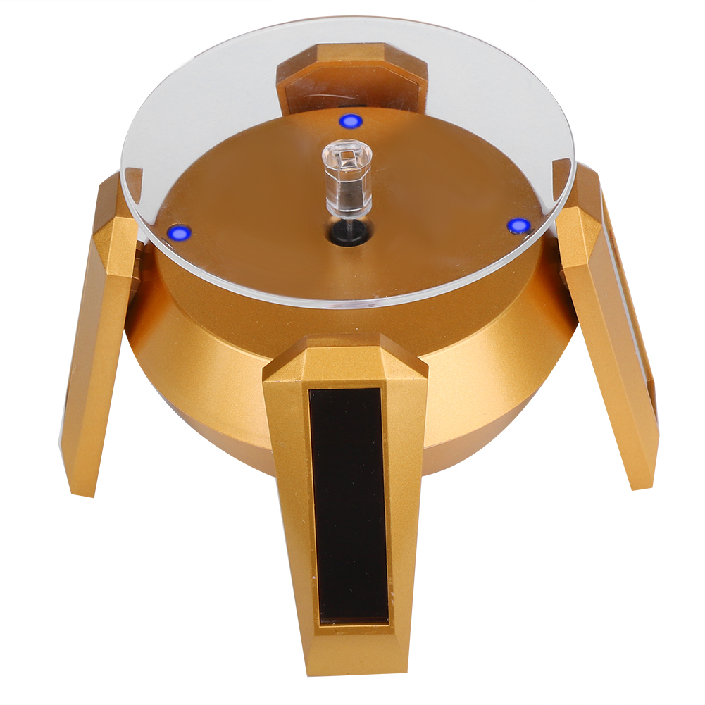Solar-Powered-Rotating-Display-Stand-Jewelry-Watch-Phone-Glassess-Display-Stand thumbnail 13