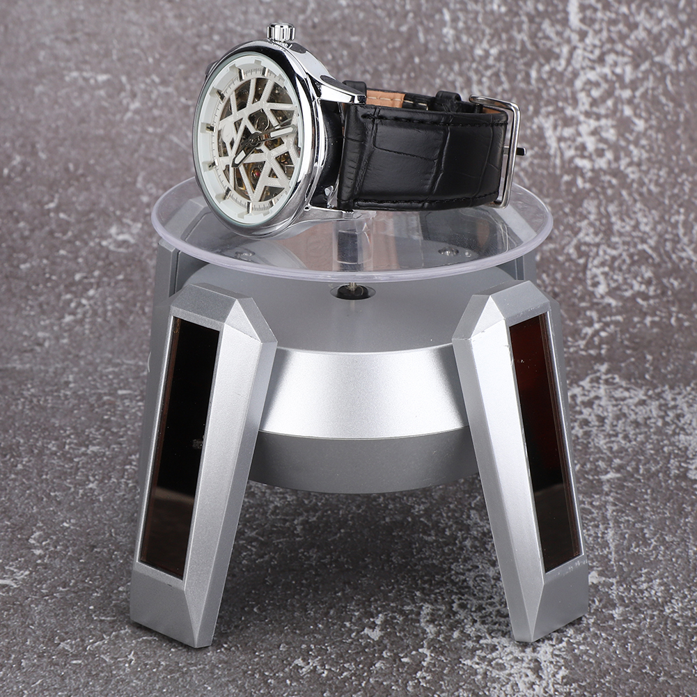 Solar-Powered-Rotating-Display-Stand-Jewelry-Watch-Phone-Glassess-Display-Stand thumbnail 17