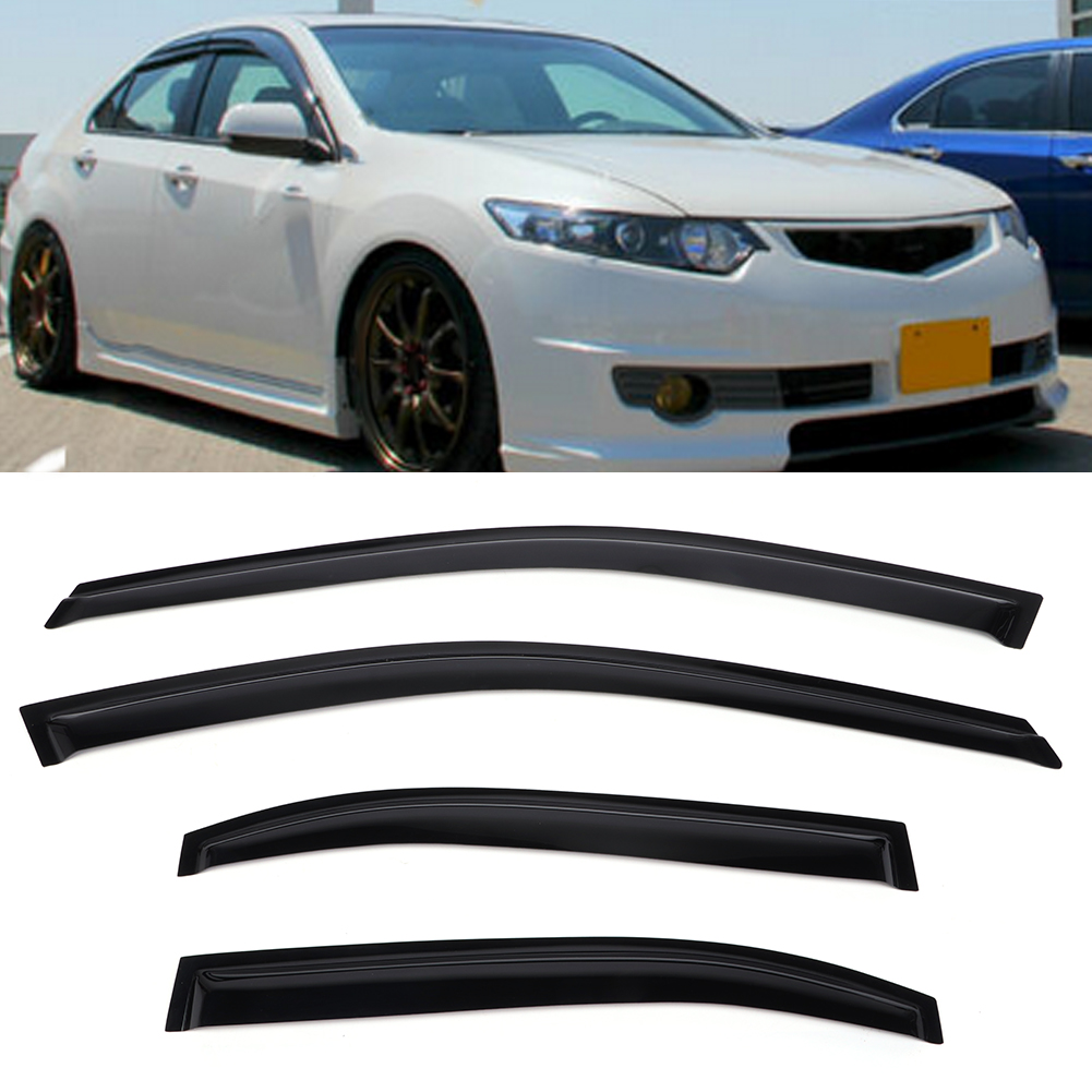 4PCS Window Visor Vent Wind Deflector Rain Guard For Acura