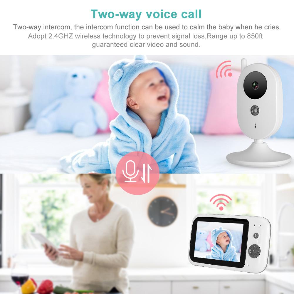 3-2-034-LCD-Wireless-2-4GHZ-2-Way-Audio-Intercom-Baby-Monitor-IR-Night-View-100-240V thumbnail 33
