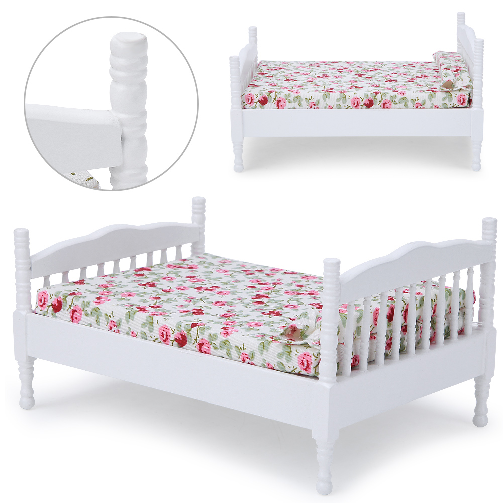 Children-Wooden-Doll-House-Furniture-Sets-Bedroom-Bed-Living-Room-Gift-Toy thumbnail 10