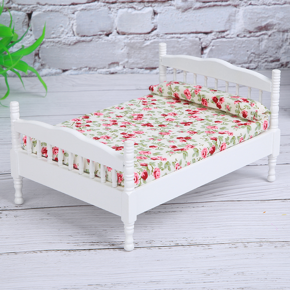 Children-Wooden-Doll-House-Furniture-Sets-Bedroom-Bed-Living-Room-Gift-Toy thumbnail 11