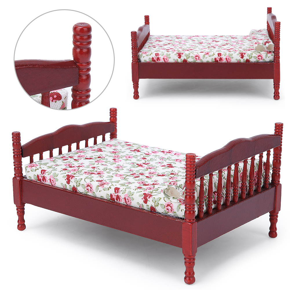 Children-Wooden-Doll-House-Furniture-Sets-Bedroom-Bed-Living-Room-Gift-Toy thumbnail 13