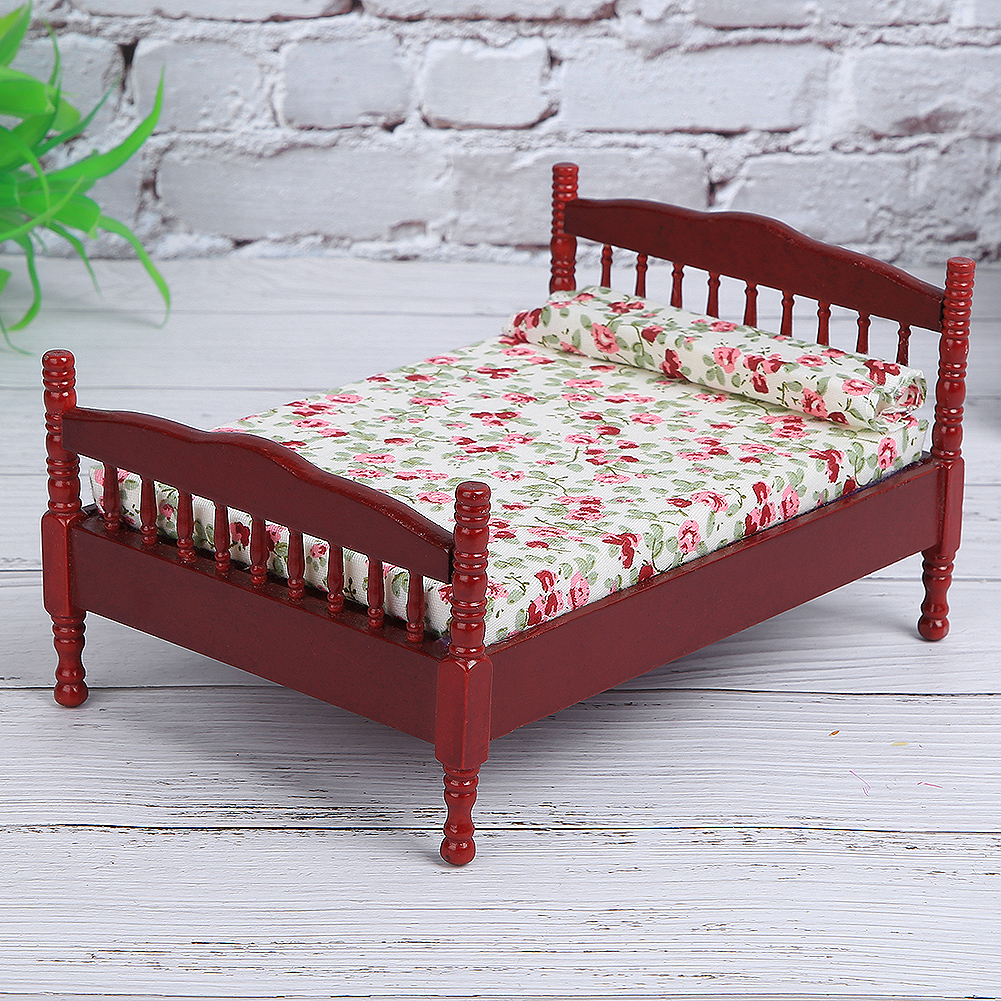 Children-Wooden-Doll-House-Furniture-Sets-Bedroom-Bed-Living-Room-Gift-Toy thumbnail 14