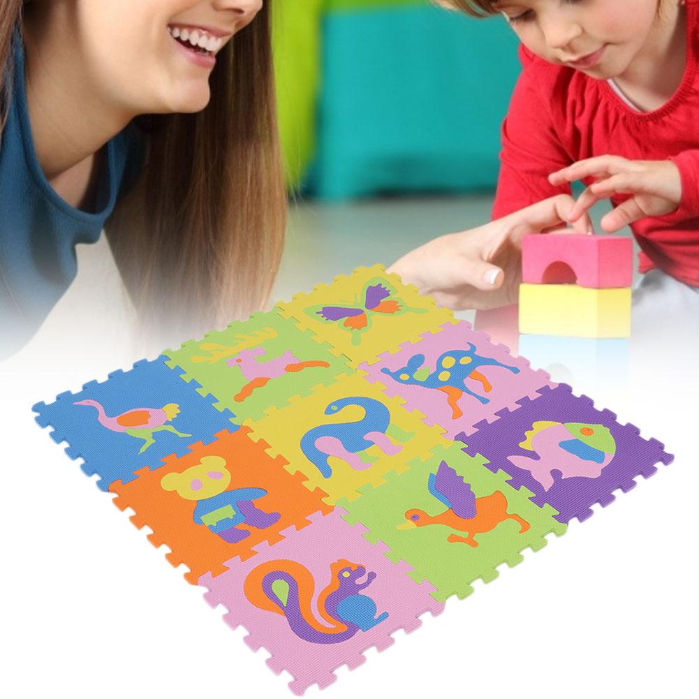 Funny-Foam-EVA-Interlocking-Floor-Play-Mat-Kids-Gym-Yoga-Exercise-Pad-Medium miniature 3