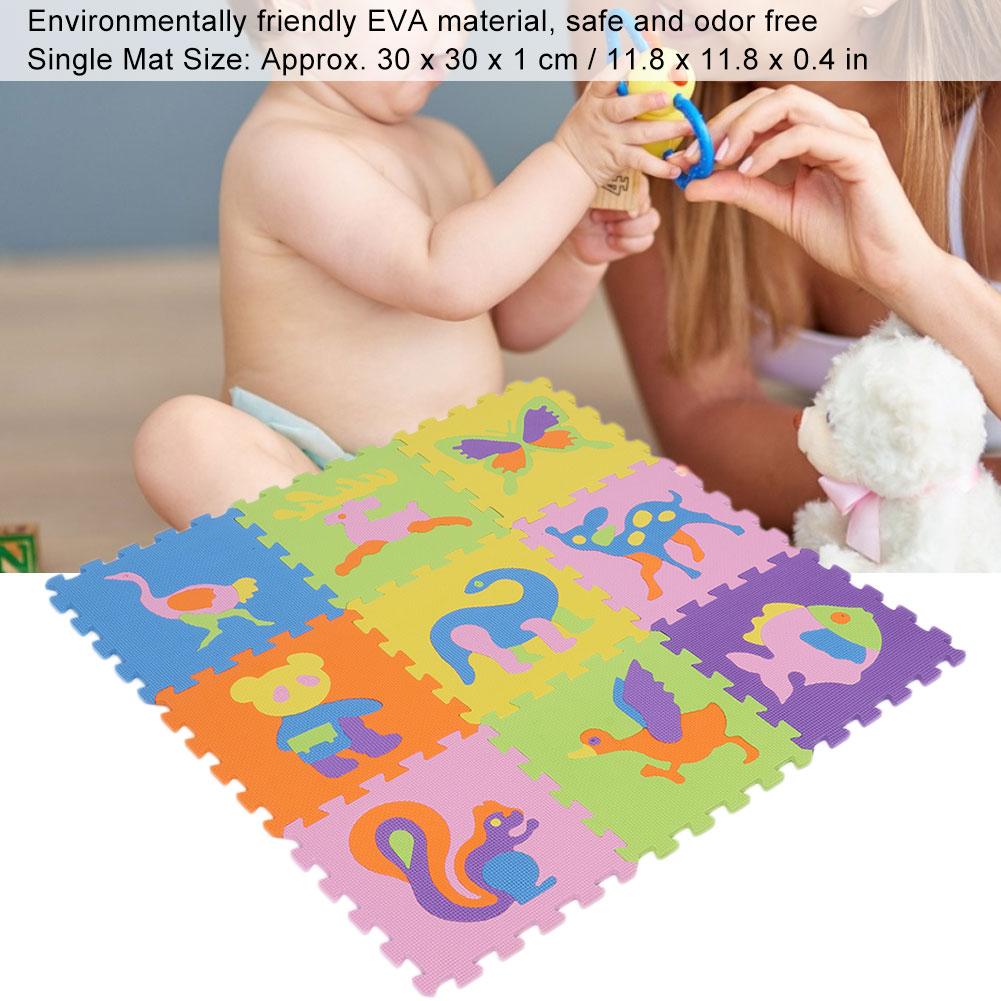 Funny-Foam-EVA-Interlocking-Floor-Play-Mat-Kids-Gym-Yoga-Exercise-Pad-Medium miniature 5