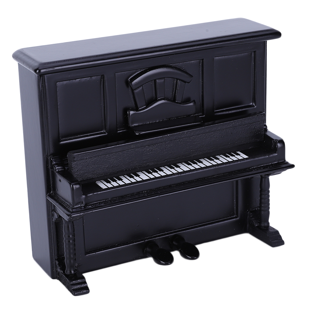 NEW-Miniature-Wood-Grand-Piano-Music-for-Dollhouse-Accessories-Decoration thumbnail 9
