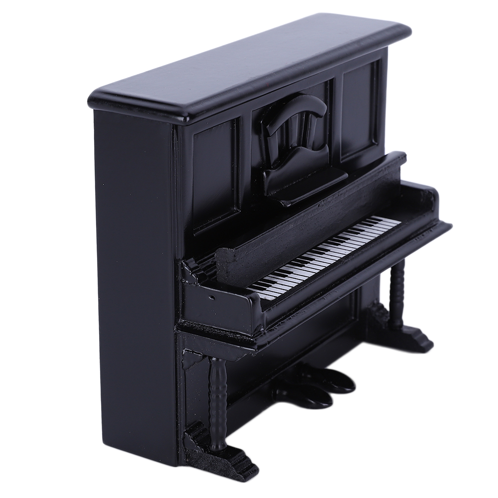 NEW-Miniature-Wood-Grand-Piano-Music-for-Dollhouse-Accessories-Decoration thumbnail 10