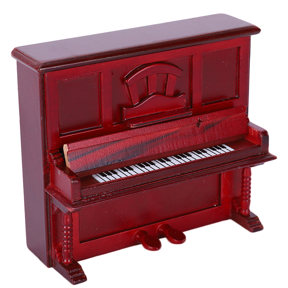 NEW-Miniature-Wood-Grand-Piano-Music-for-Dollhouse-Accessories-Decoration thumbnail 12