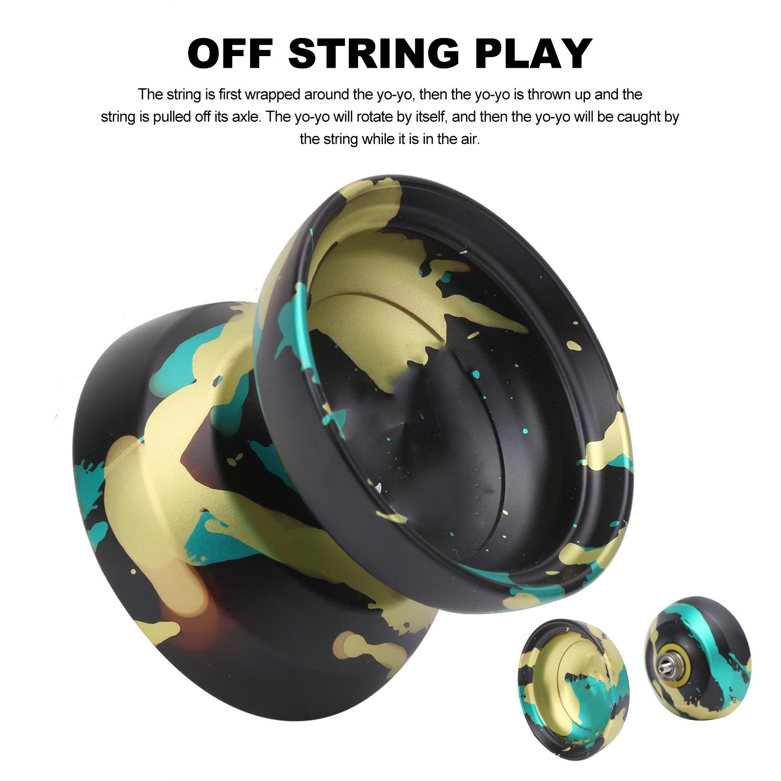 thumbnail 6 - Yoyo Ball Alloy Yoyo Toy With Replacement Yoyo Strings Kid Fun Game Play Toy