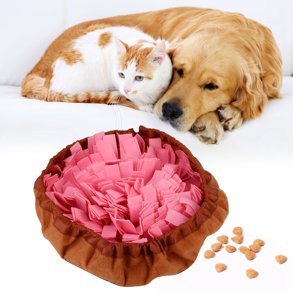Pet-Training-Soft-Mat-Blanket-Dog-Nose-Sniff-Souptoys-Play-Biting-Toy-w-Buckle thumbnail 12