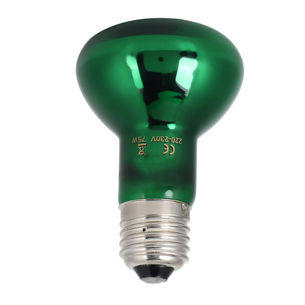 Details about Pet Ceramic Heating Lamp 75W IR Heat Reptile Amphibian Grow Light Lizard Turtles