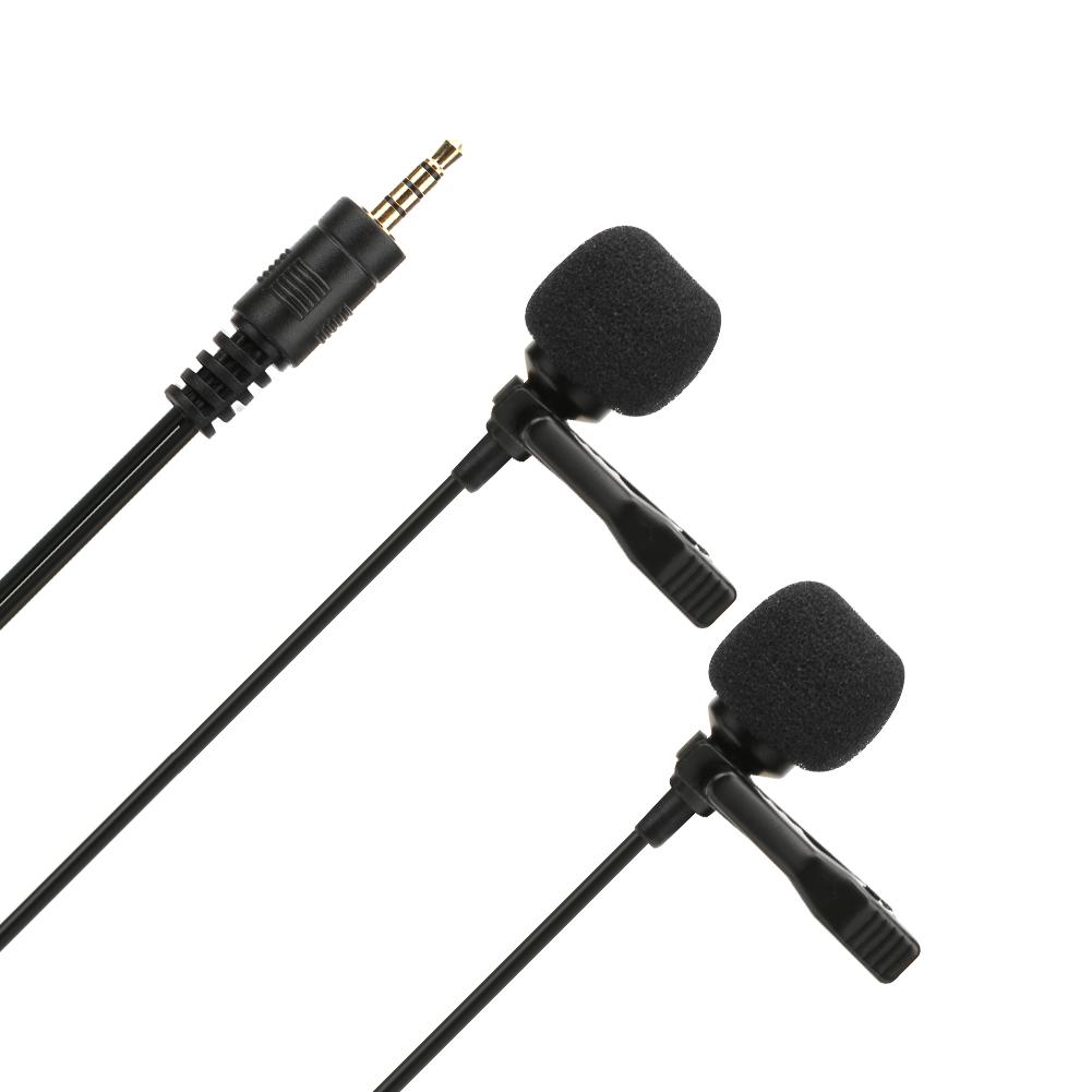 Clip-on-Lapel-Mini-Lavalier-Mic-Dual-Head-Microphone-6m-1-5m-For-DJI-OSMO-Pocket thumbnail 11