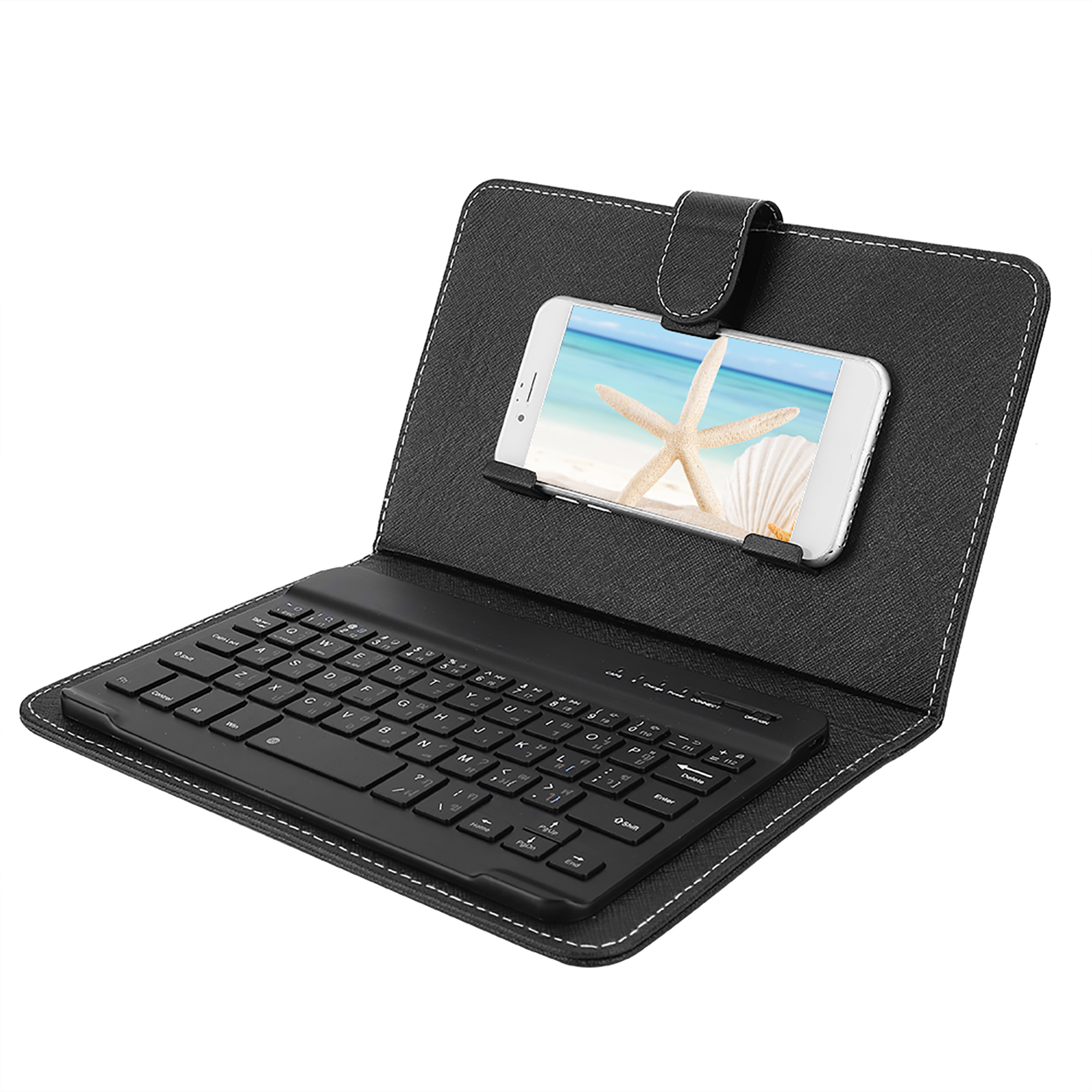 Mini-Wireless-Bluetooth-3-0-Keyboard-W-Leather-Cover-For-4-5-034-6-8-034-Android-iOS thumbnail 14