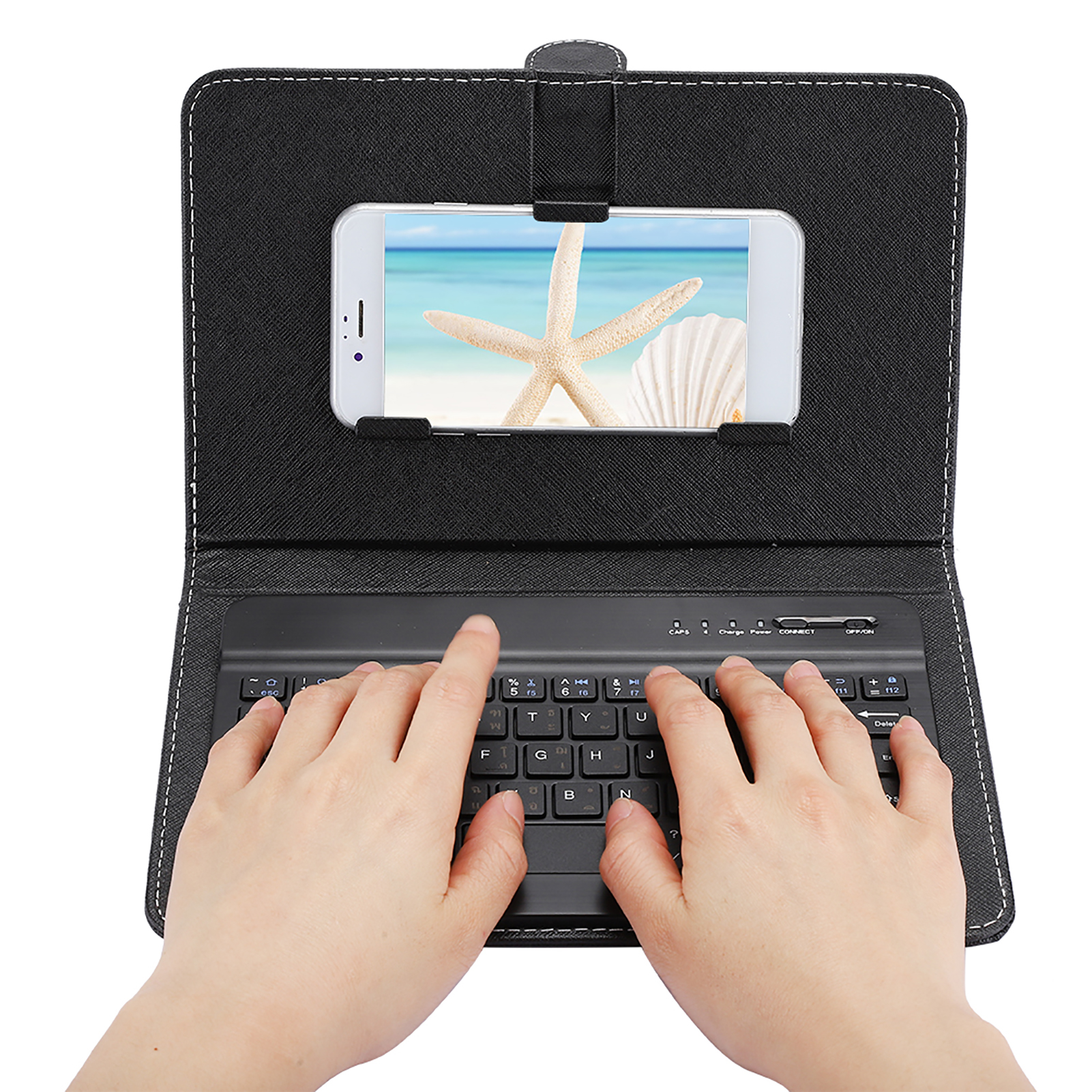 Mini-Wireless-Bluetooth-3-0-Keyboard-W-Leather-Cover-For-4-5-034-6-8-034-Android-iOS thumbnail 15