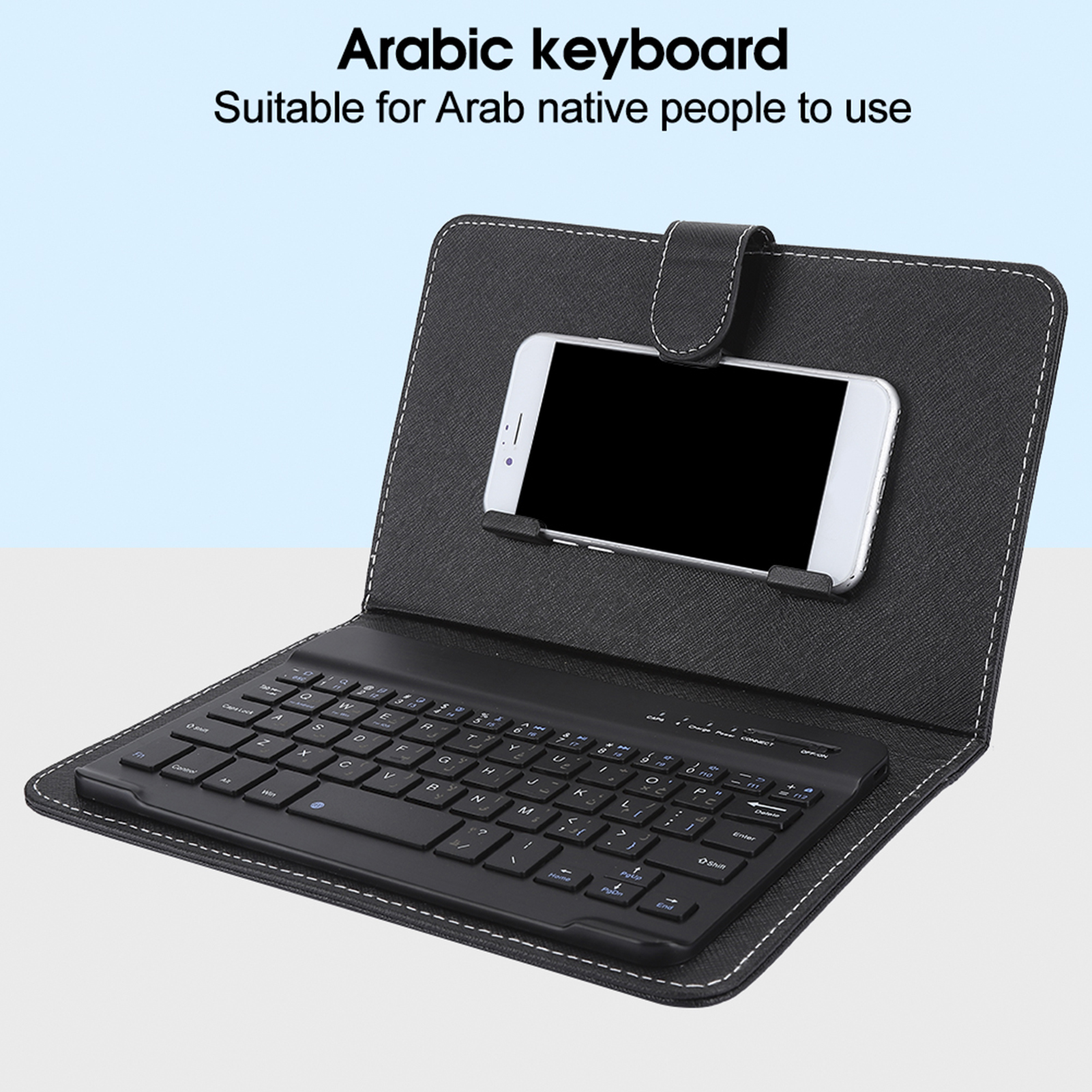 Leather Cover Wireless Bluetooth Keyboard For 4 5 6 8 Android Ios Mobile Phone Ebay