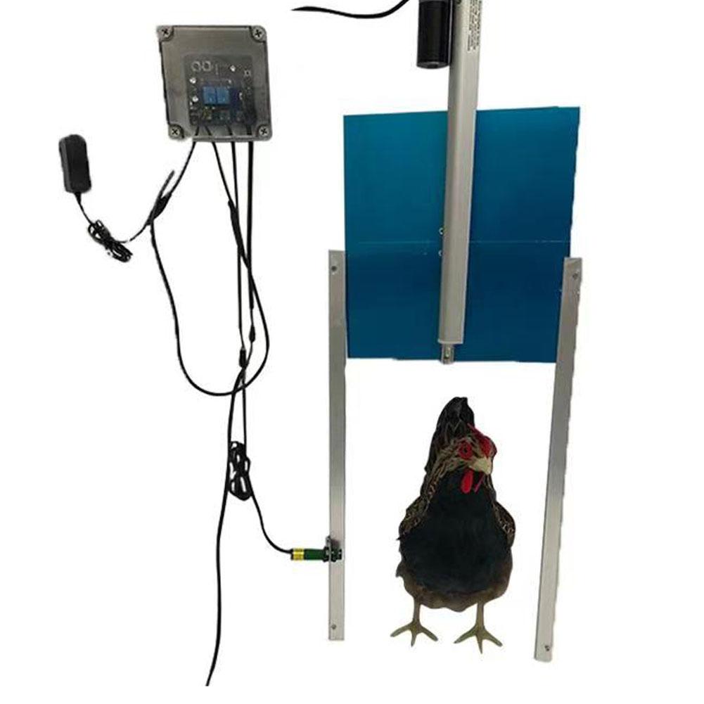 Kit-porta-controller-automatico-apriporta-per-pollo-sensore-di-luce-per miniatura 22
