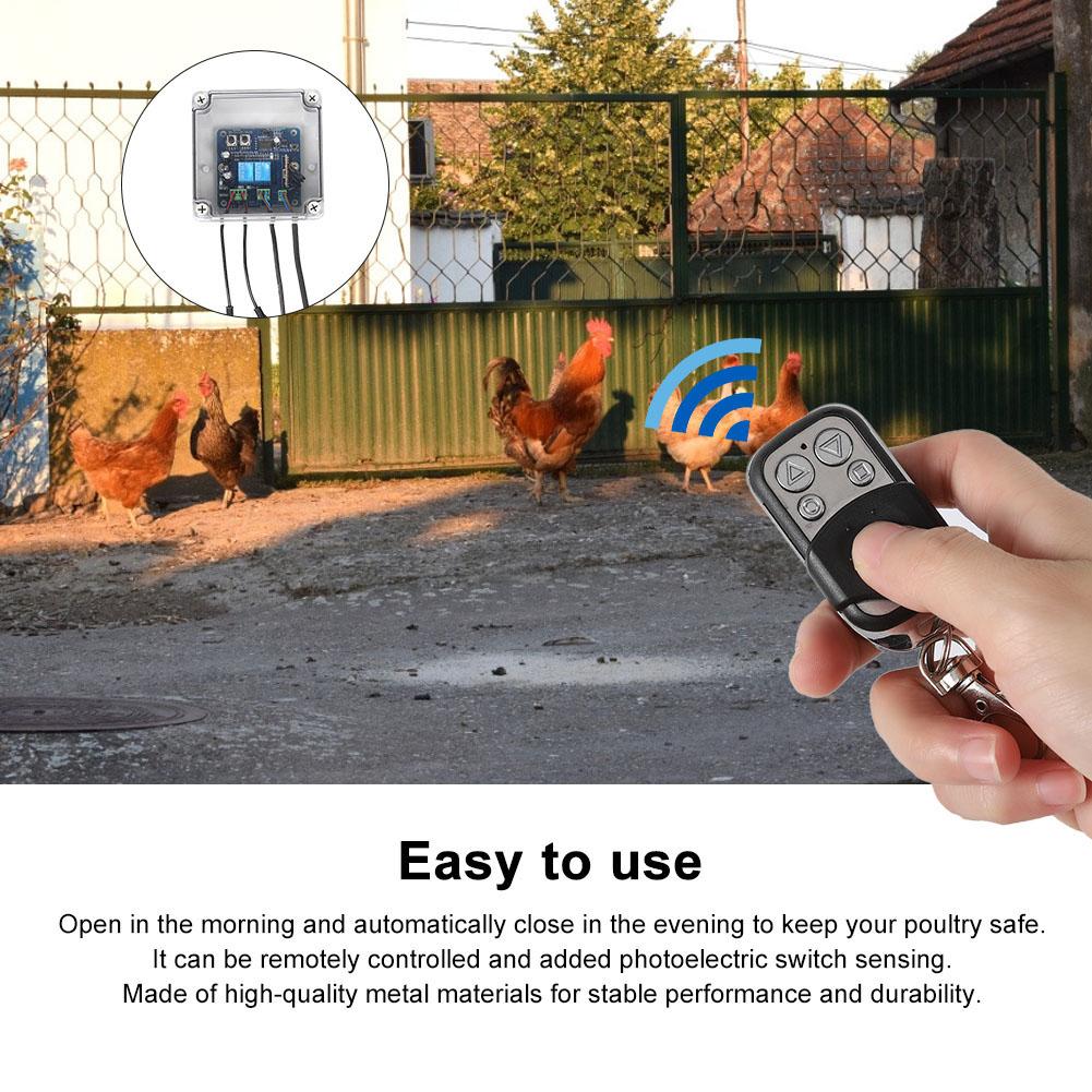 Kit-porta-controller-automatico-apriporta-per-pollo-sensore-di-luce-per miniatura 35