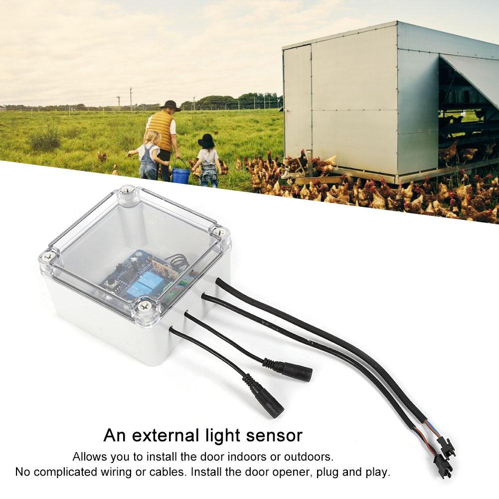 Kit-porta-controller-automatico-apriporta-per-pollo-sensore-di-luce-per miniatura 34