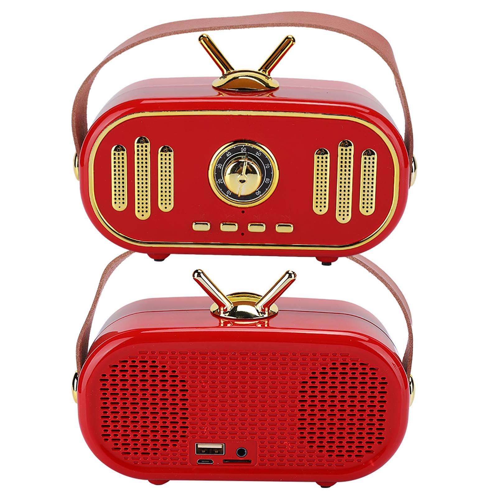 miniature 14 - FT-101BT Haut-parleur portable Bluetooth sans fil Rétro Radio Mini Subwoofer 1200 MAH