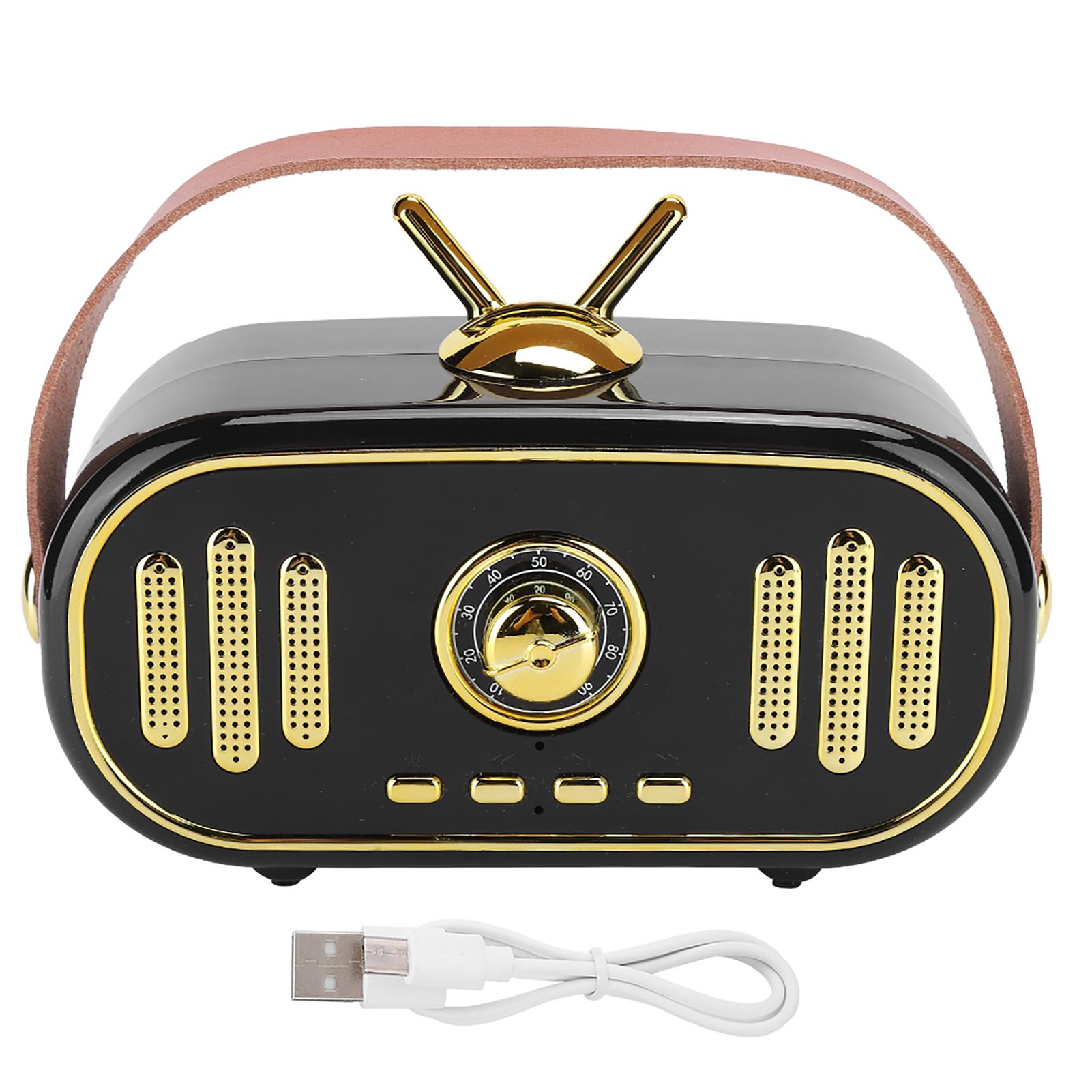 miniature 16 - FT-101BT Haut-parleur portable Bluetooth sans fil Rétro Radio Mini Subwoofer 1200 MAH