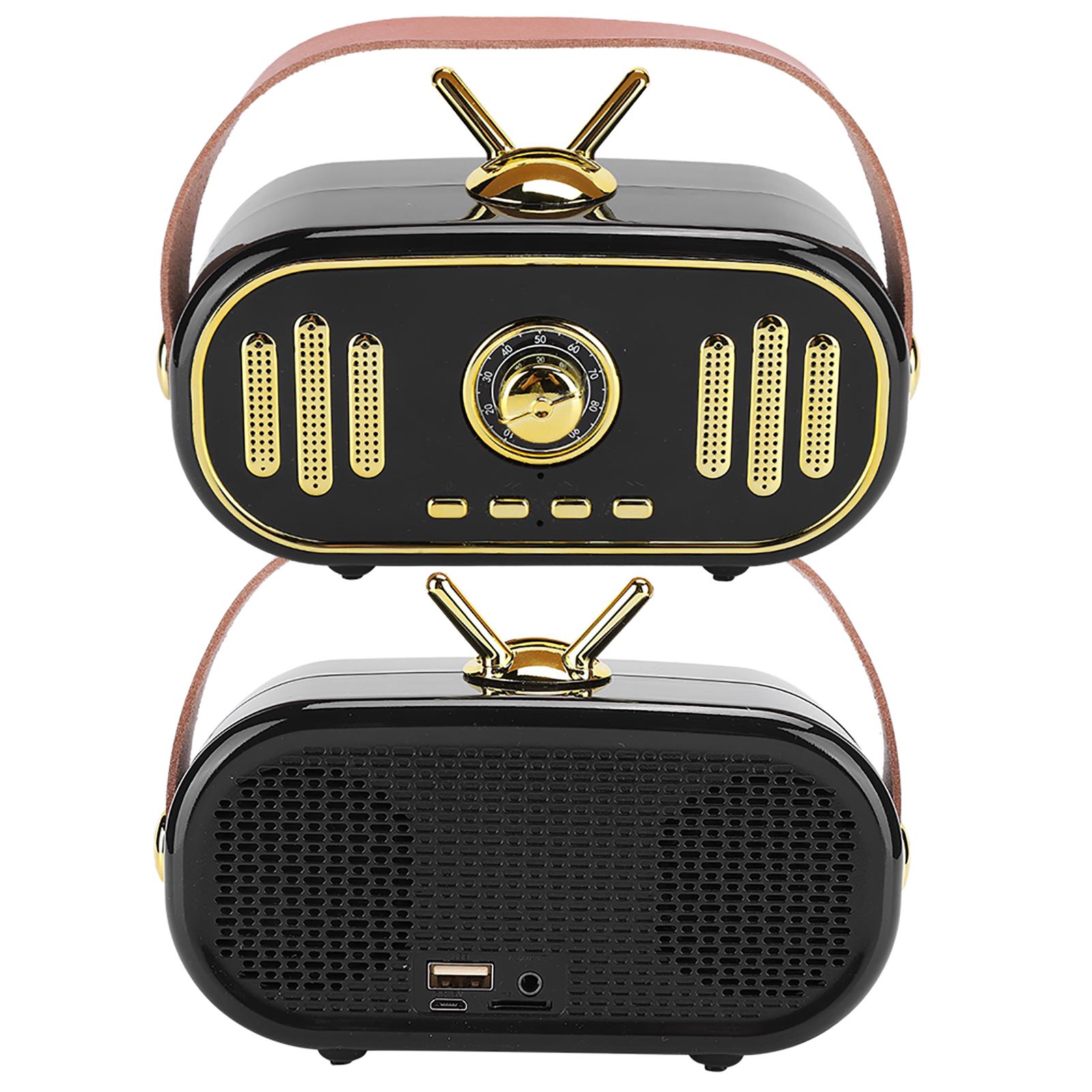 miniature 17 - FT-101BT Haut-parleur portable Bluetooth sans fil Rétro Radio Mini Subwoofer 1200 MAH